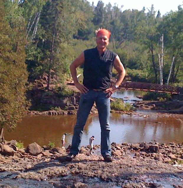 Harley at Goosebury Falls